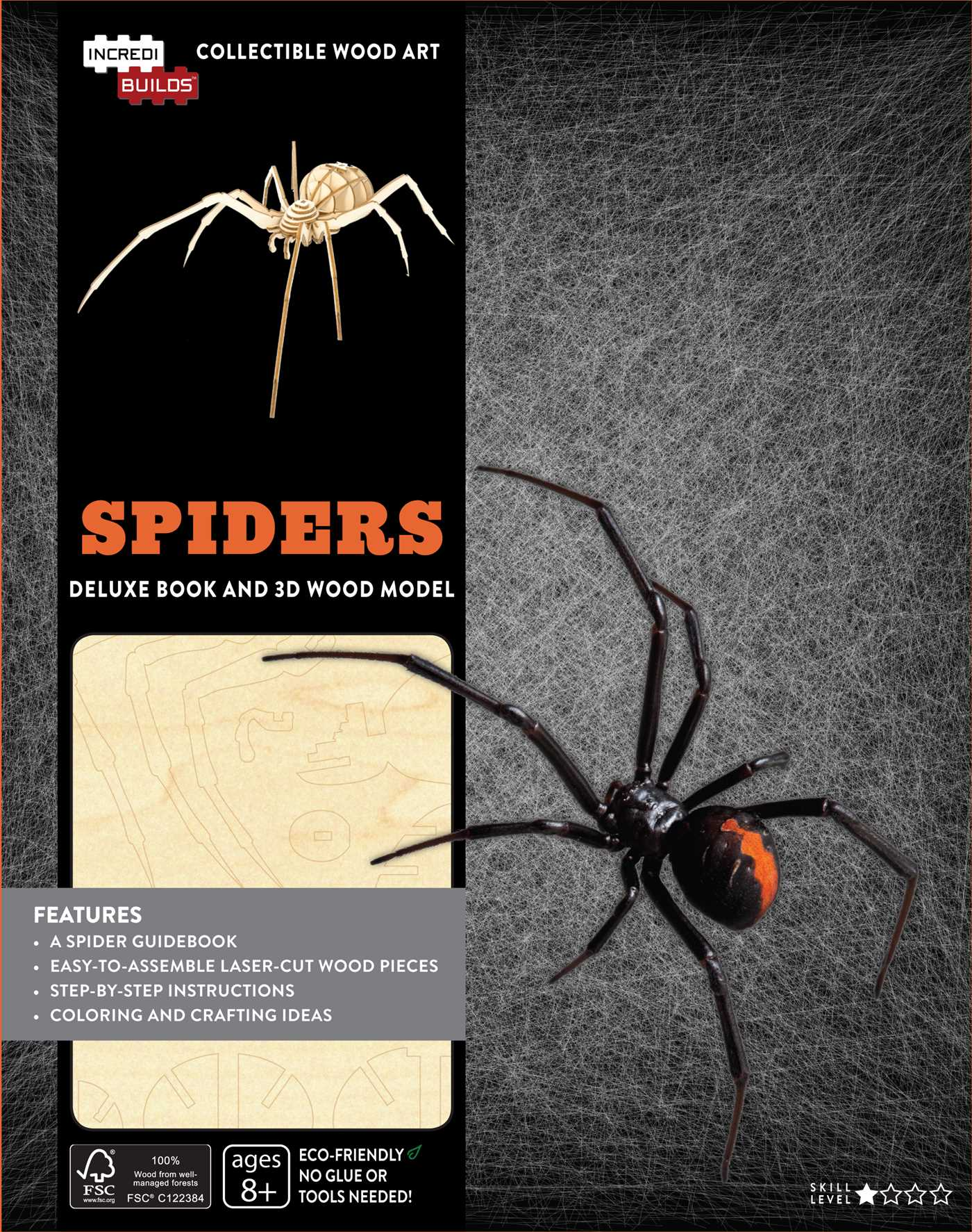 IncrediBuilds: Spiders Deluxe Book and Model Set | Book by Insight ...