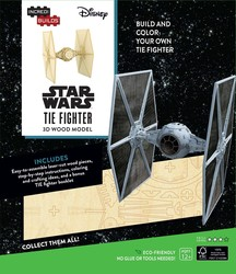 IncrediBuilds: Star Wars: Tie Fighter 3D Wood Model