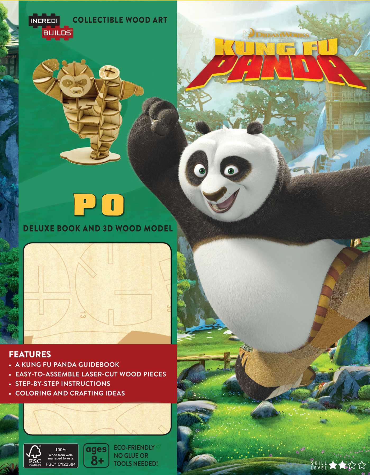 Incredibuilds dreamworks kung fu panda deluxe book and model set 9781682980569 hr