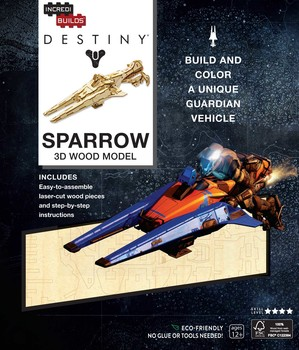 IncrediBuilds: Destiny: Sparrow 3D Wood Model