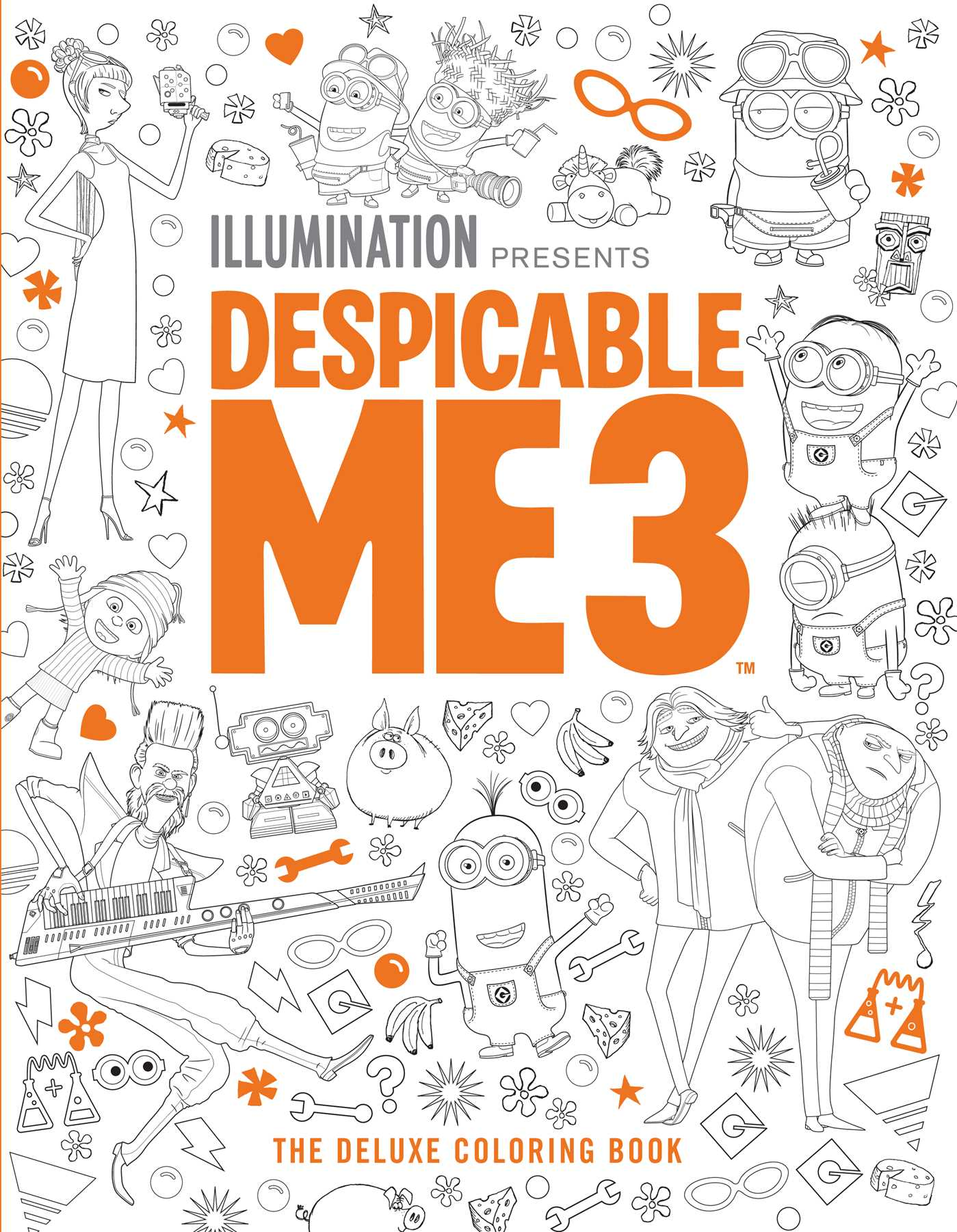 Book Cover Image Jpg Despicable Me 3 The Deluxe Coloring