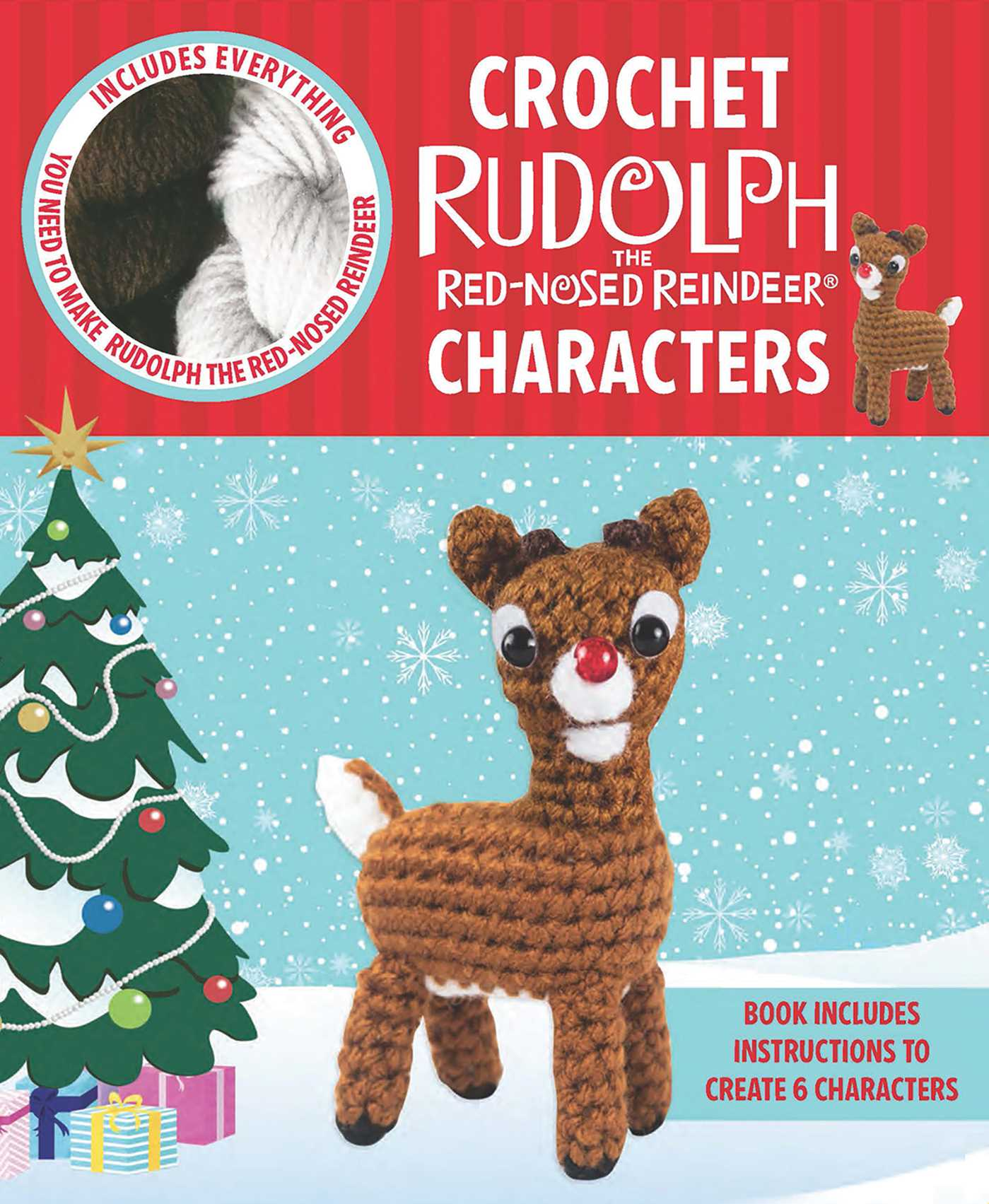 book cover image jpg crochet rudolph the red nosed reindeer characters