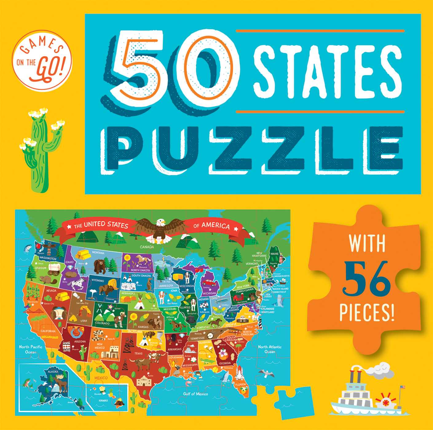 Games on the go 50 states puzzle 9781684121403 hr
