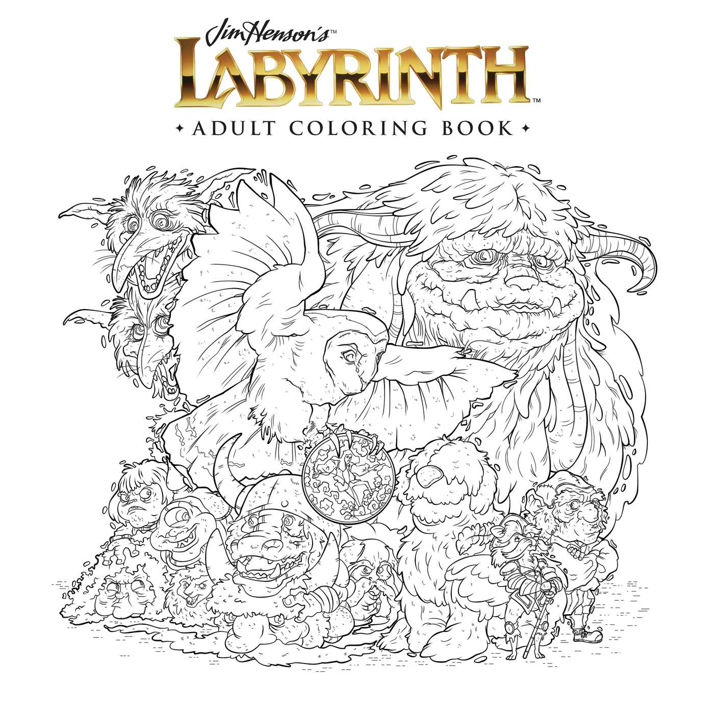 Book Cover Image Jpg Jim Hensons Labyrinth Adult Coloring