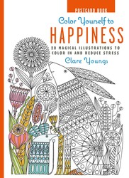 Color Yourself to Happiness Postcard Book