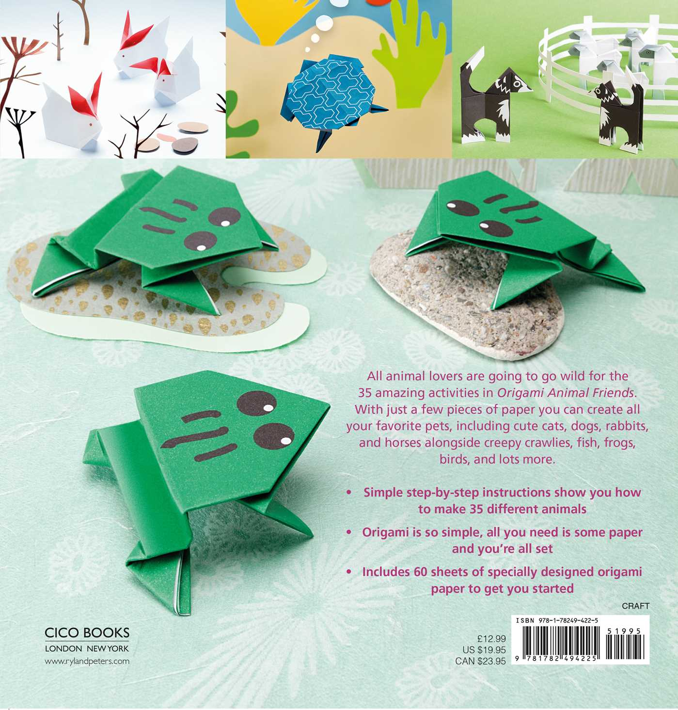 origami animal friends book by mari ono official