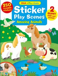 Sticker Play Scenes: Amazing Animals