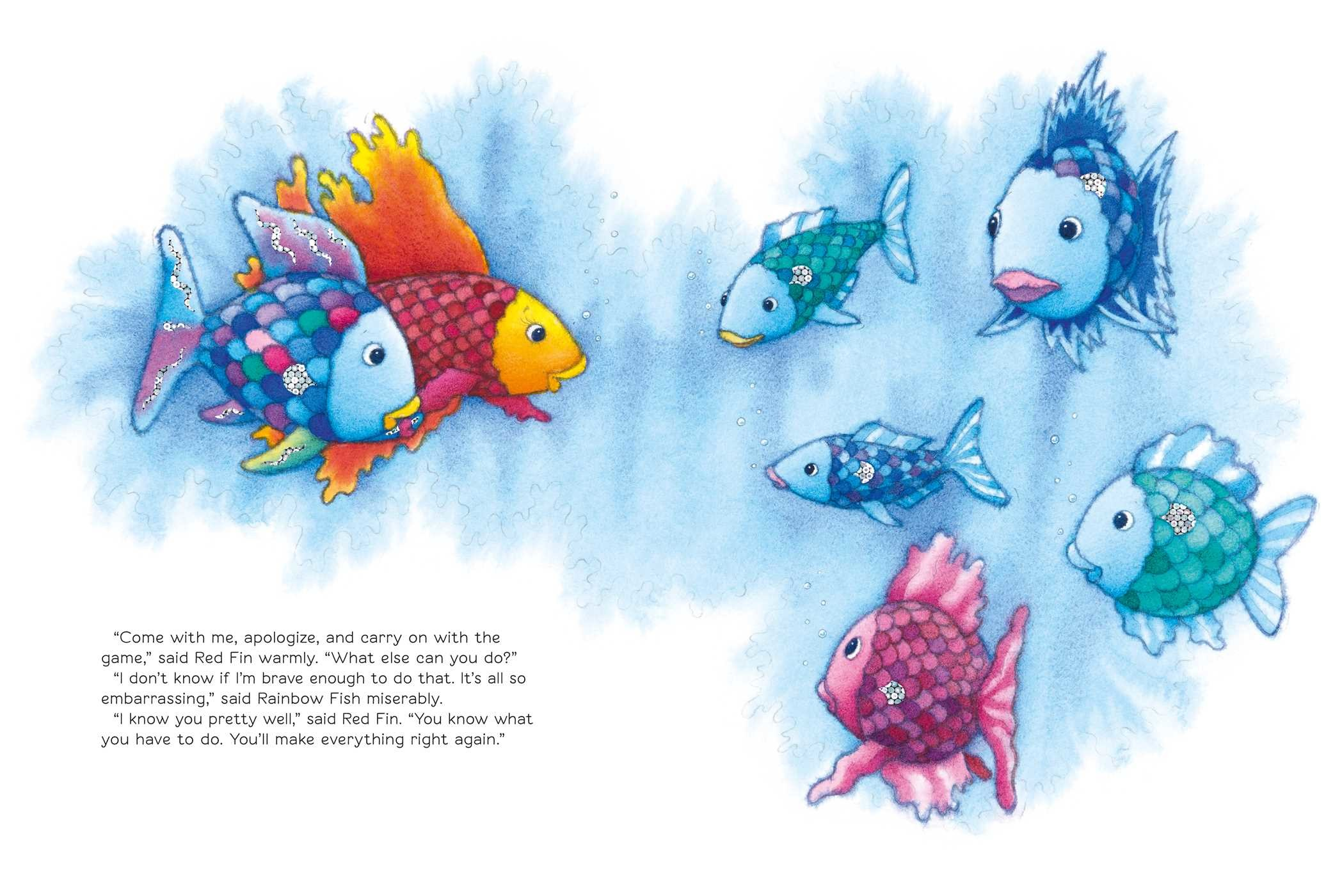 You can 39 t win them all rainbow fish book by marcus for The rainbow fish