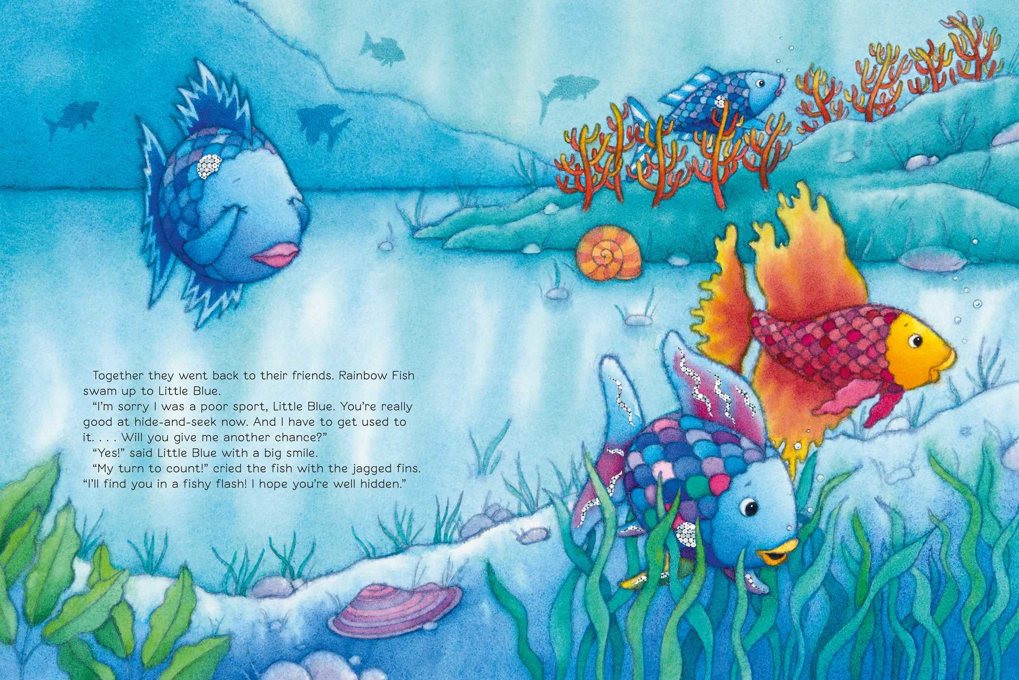 You can 39 t win them all rainbow fish book by marcus for Rainbow fish pictures