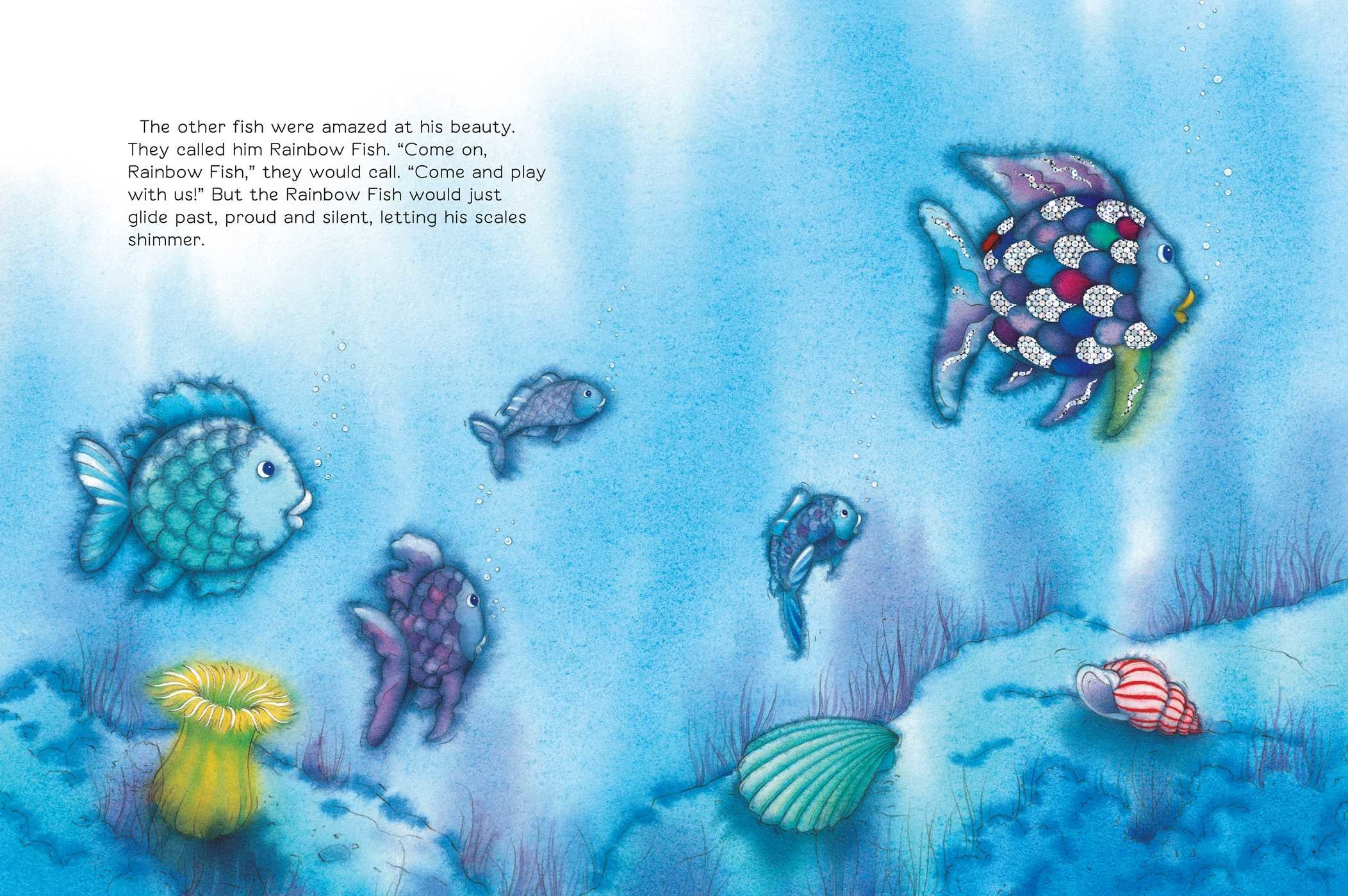 The rainbow fish big book book by marcus pfister for Rainbow fish story