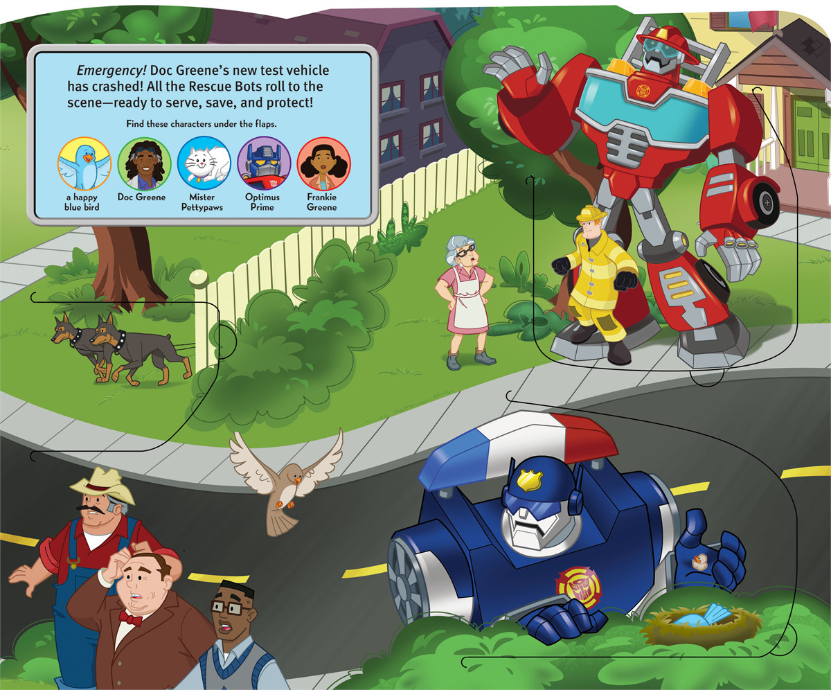 Transformers rescue bots roll to the rescue! 9780794428495.in02