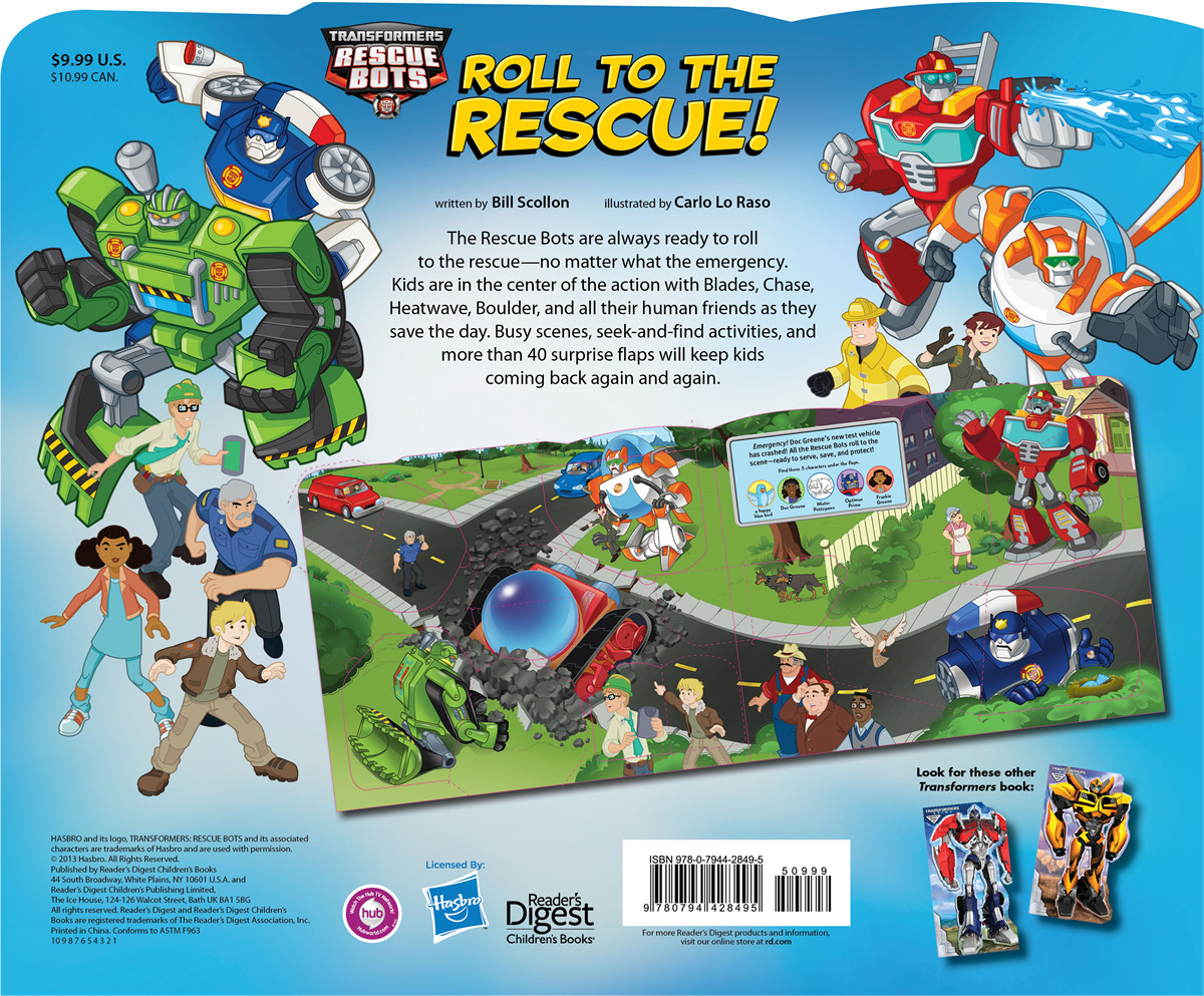 Transformers rescue bots roll to the rescue! 9780794428495.in04