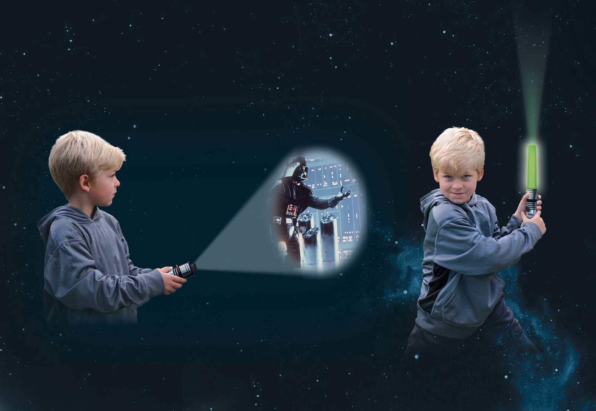 star wars movie theater storybook amp lightsaber projector