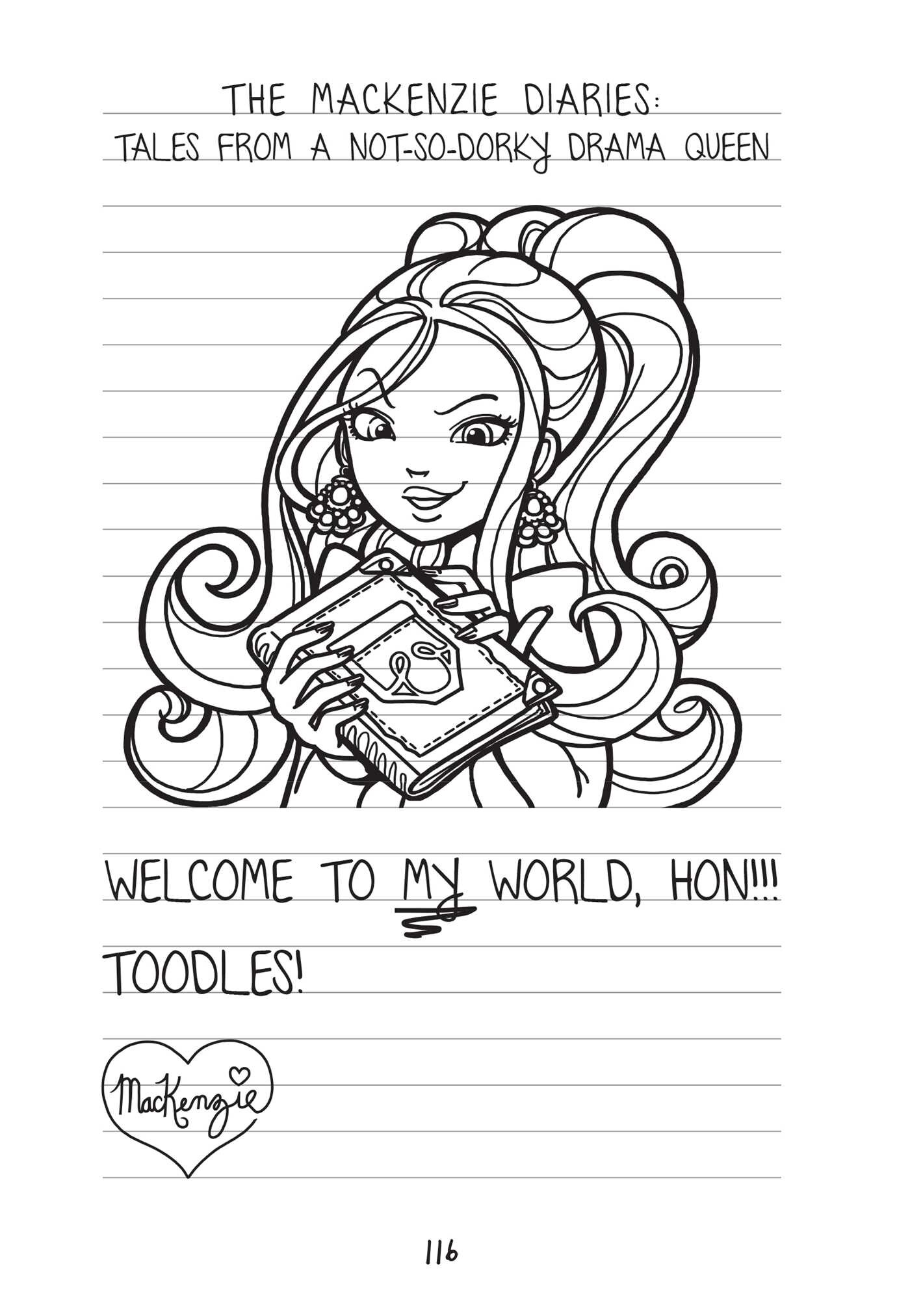 Coloring pages for dork diaries -  Dork Diaries 9 9781442487697 In09
