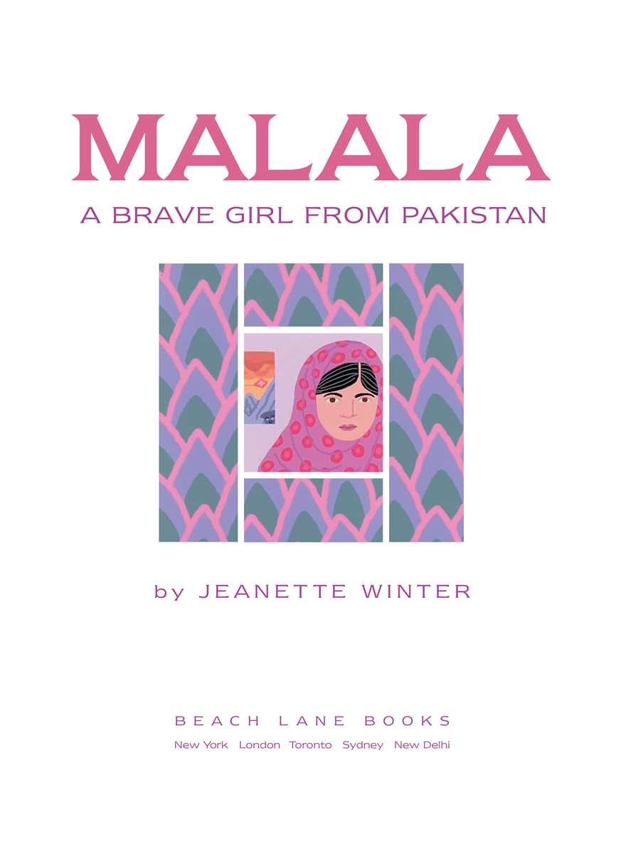 Malala a brave girl from pakistan iqbal a brave 9781481422949.in01