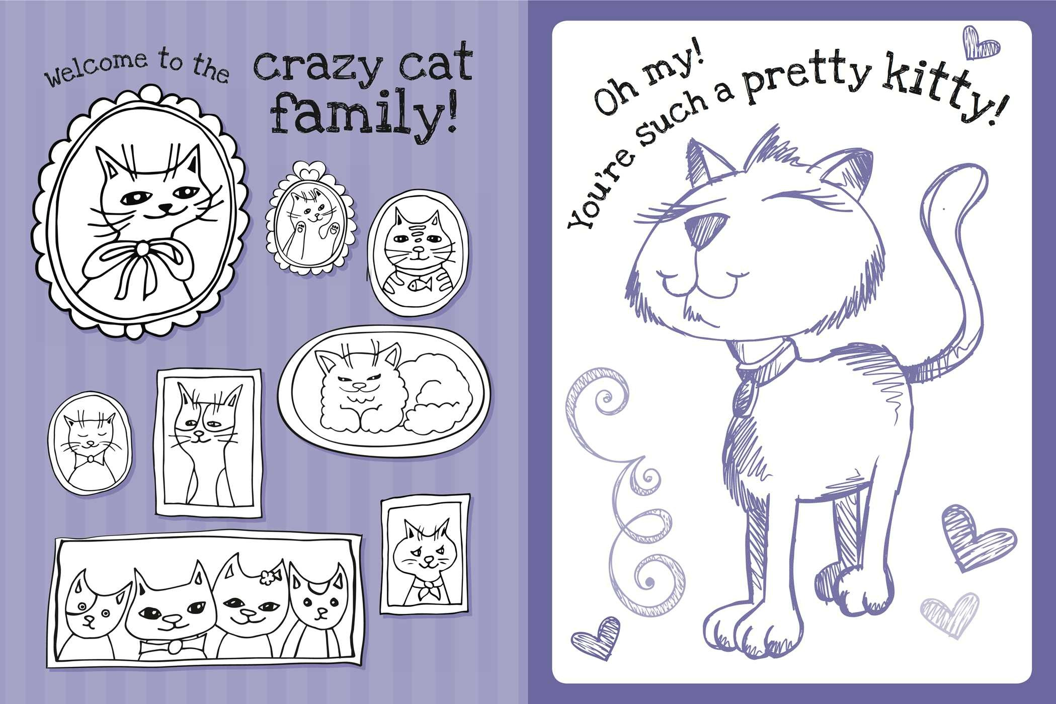 Coloring book kittens -  The Too Cute Coloring Book Kittens 9781499802061 In03