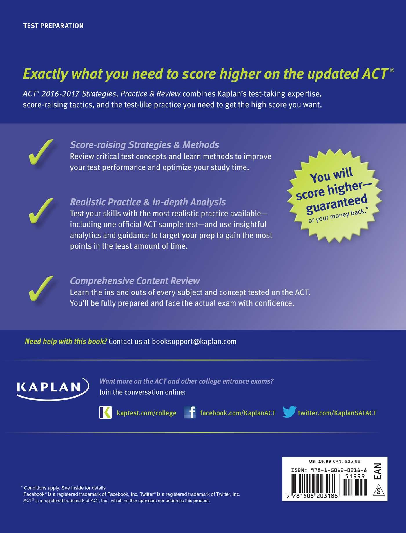 ACT 2016-2017 Strategies, Practice, and Review with 6 Practice ...