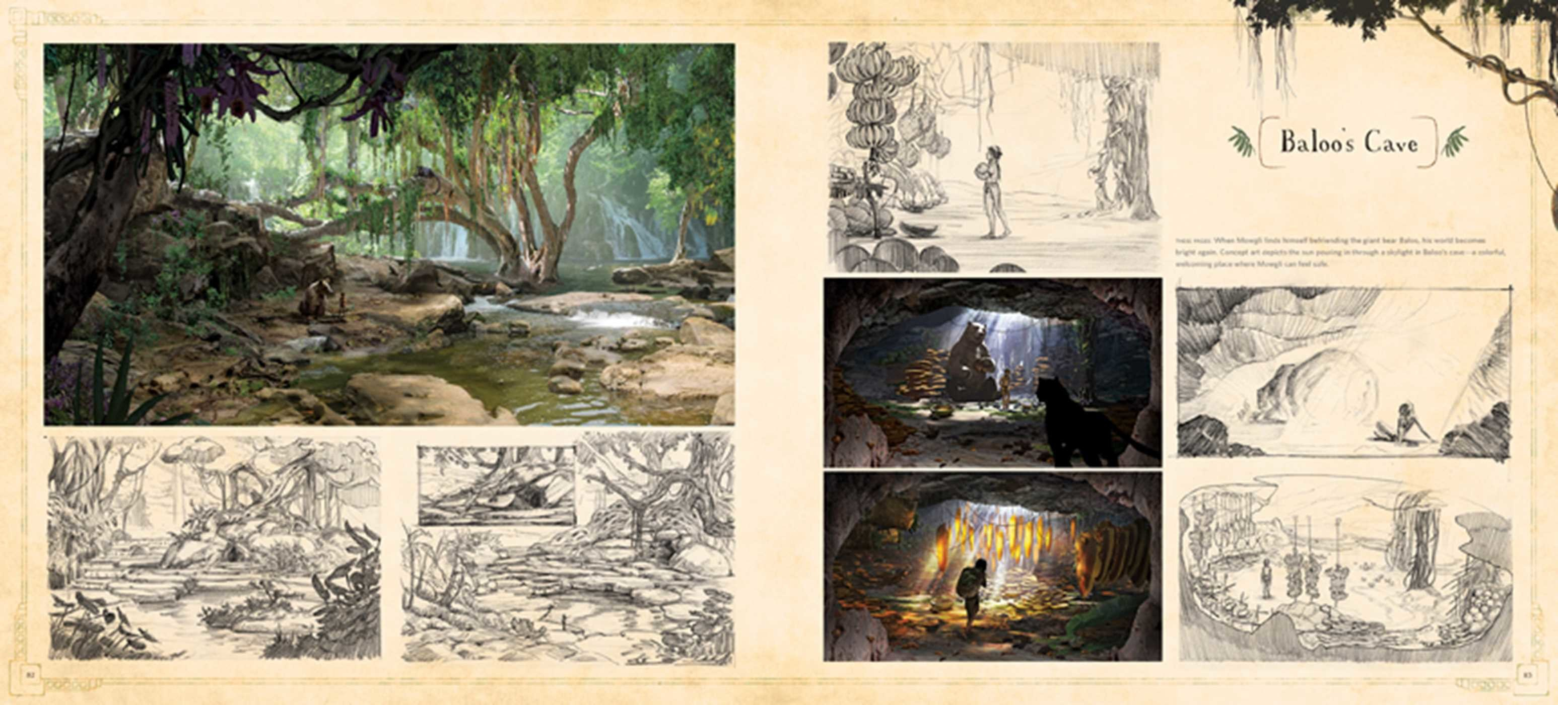 The art of the jungle book book by ellen wolff official the art of the jungle book 978160887791102 fandeluxe Images