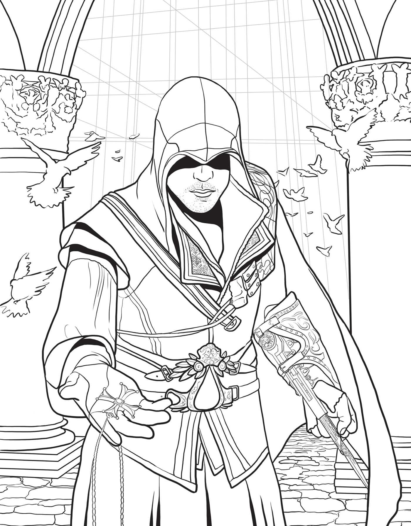 coloring book 1 assassin 39 s creed the official coloring book book by