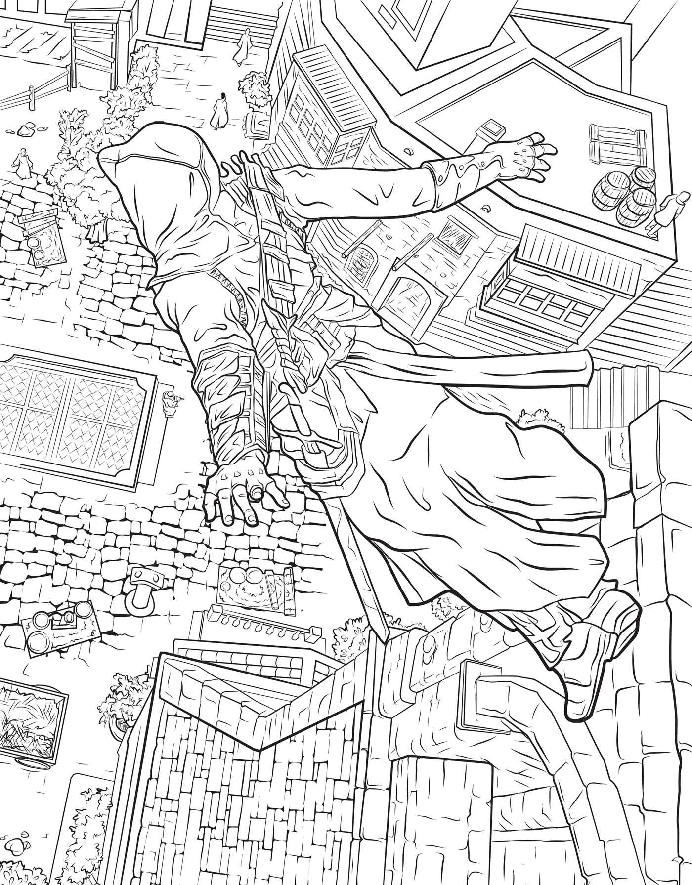 assassin s creed the official coloring book book by