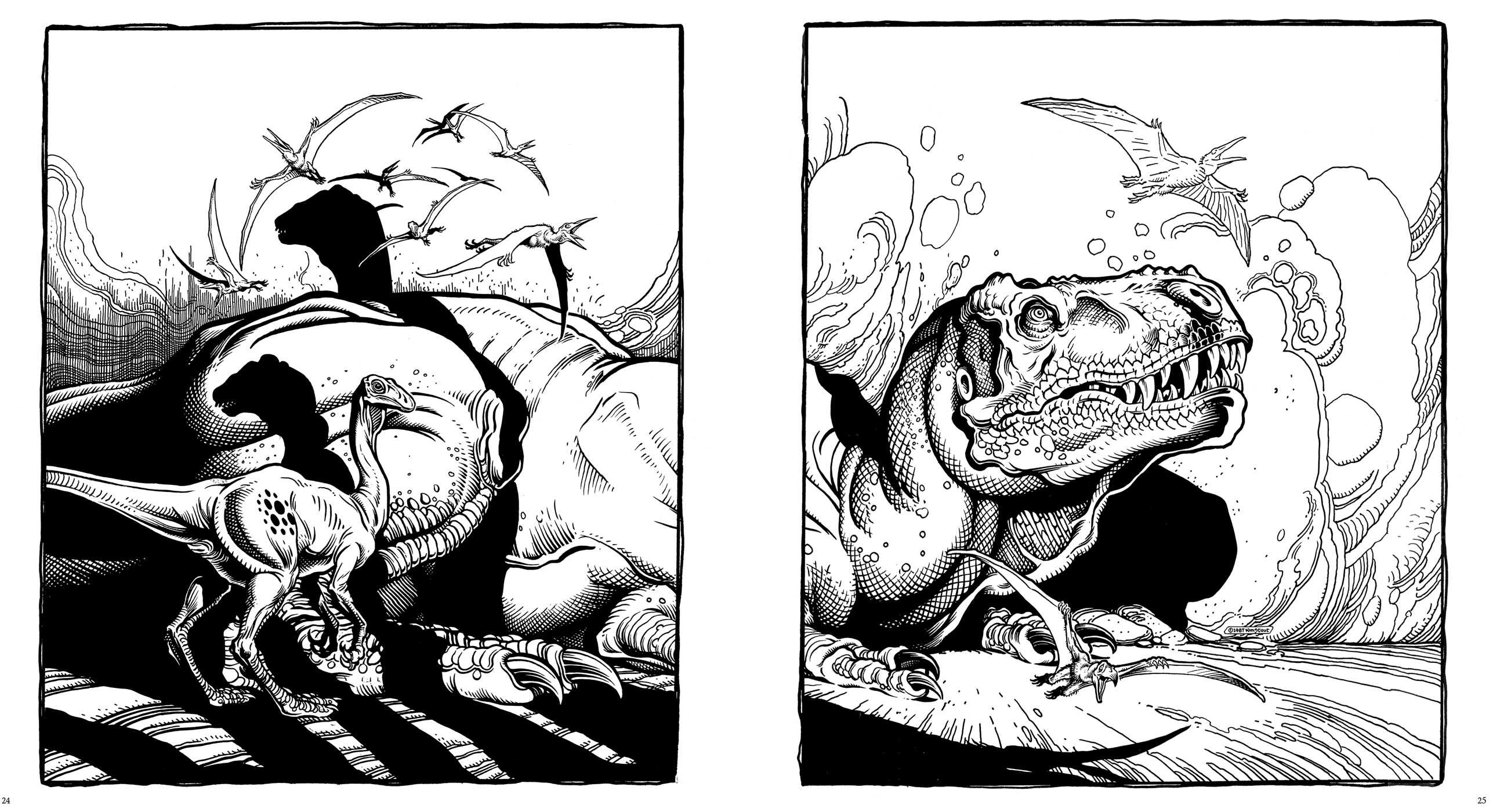 Dinosaurs: A Coloring Book by William Stout | Book by William ...