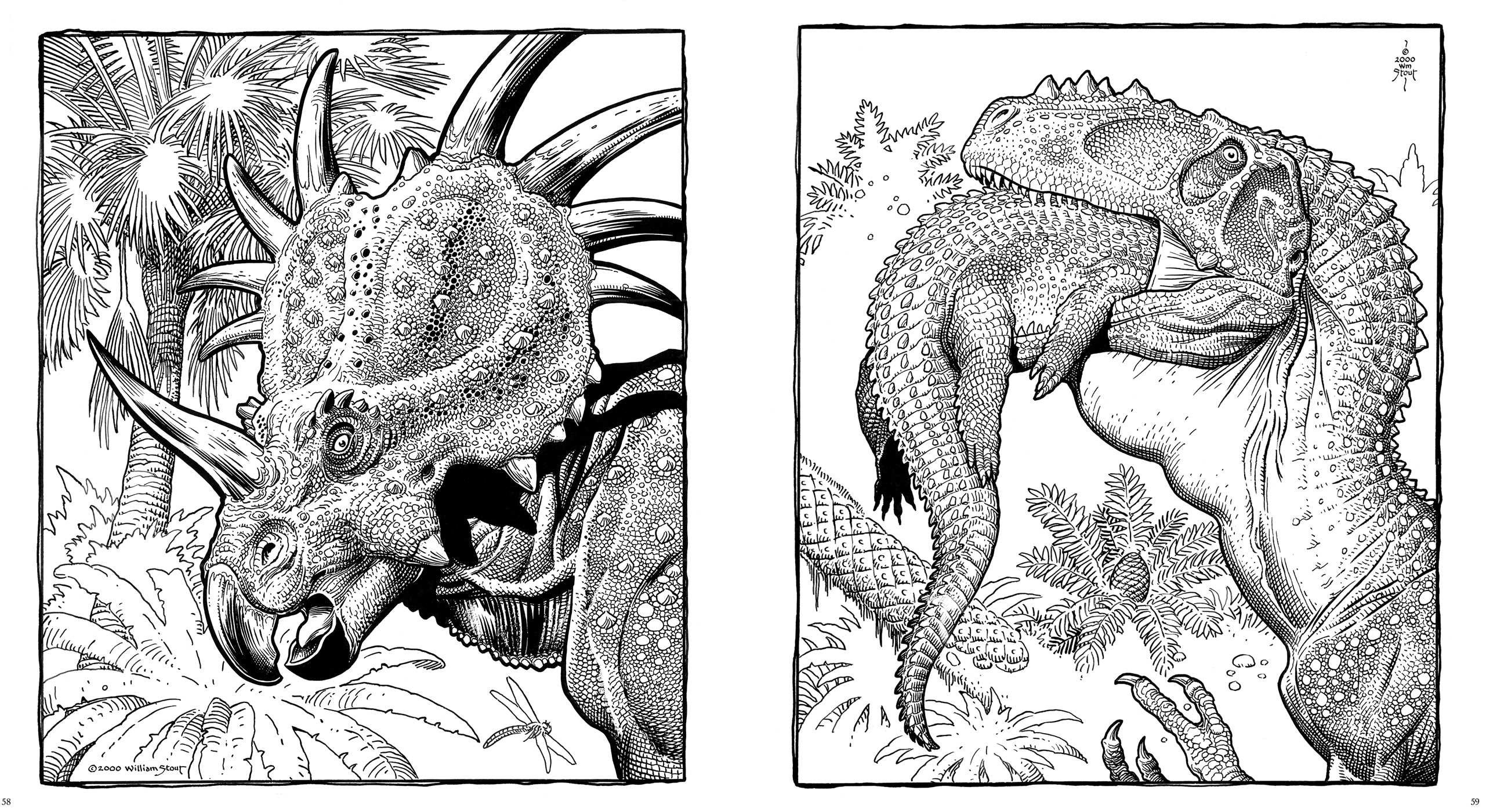 dinosaurs a coloring book by william stout book by william