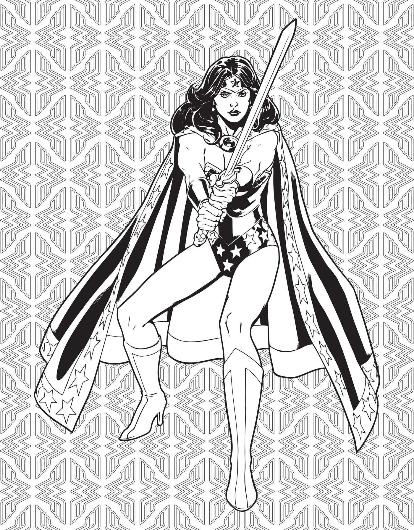 dc comics wonder woman coloring book book by insight editions