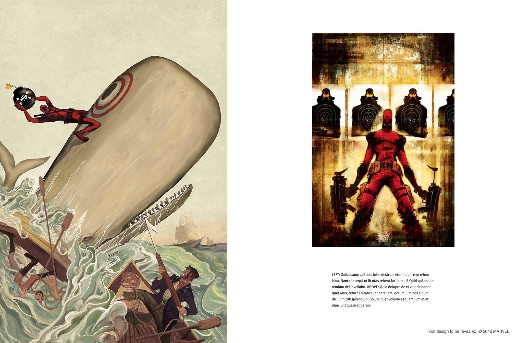 De deadpool drawing pages -  The Art Of Deadpool 9781608879182 In01