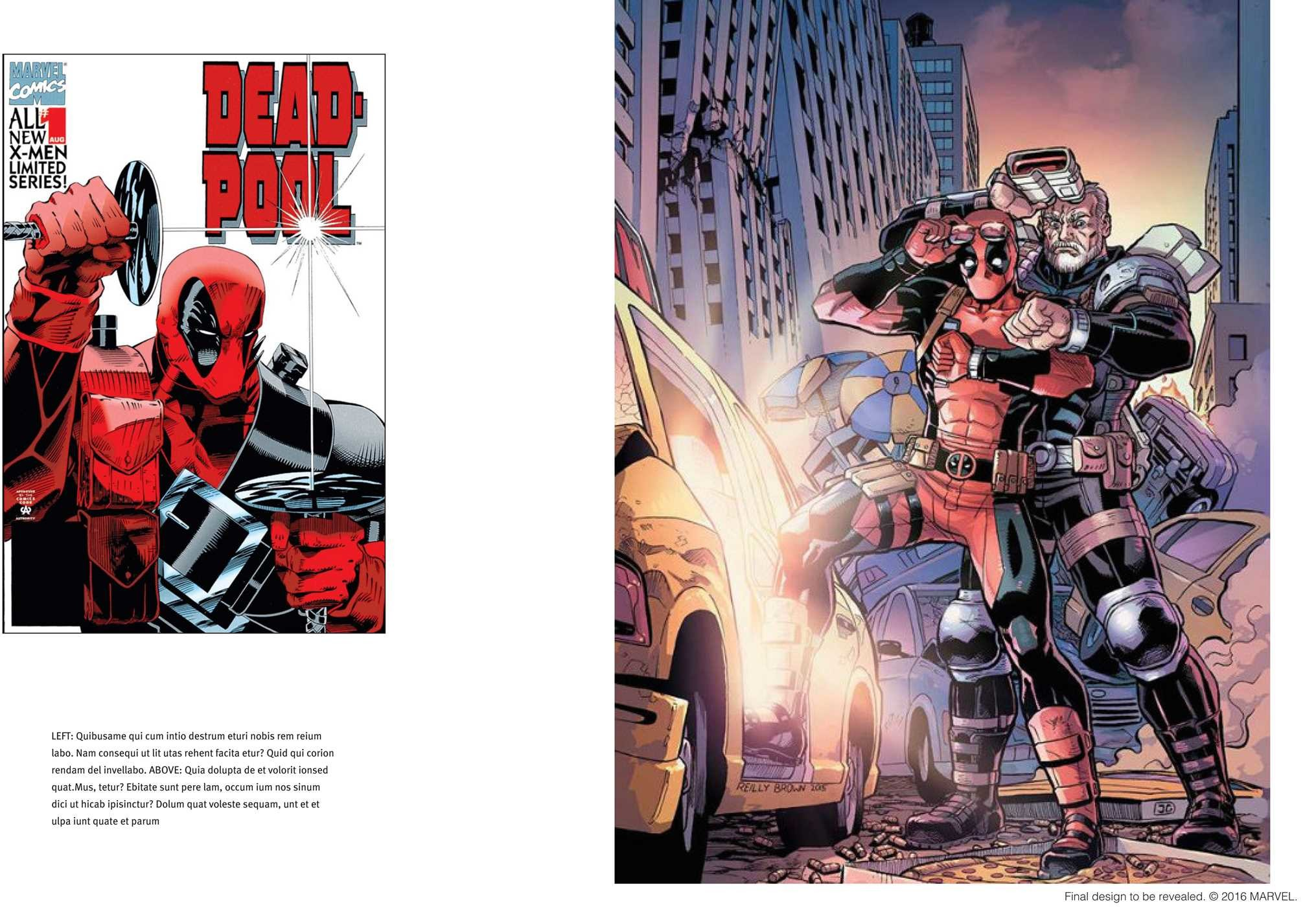 De deadpool drawing pages -  The Art Of Deadpool 9781608879182 In03