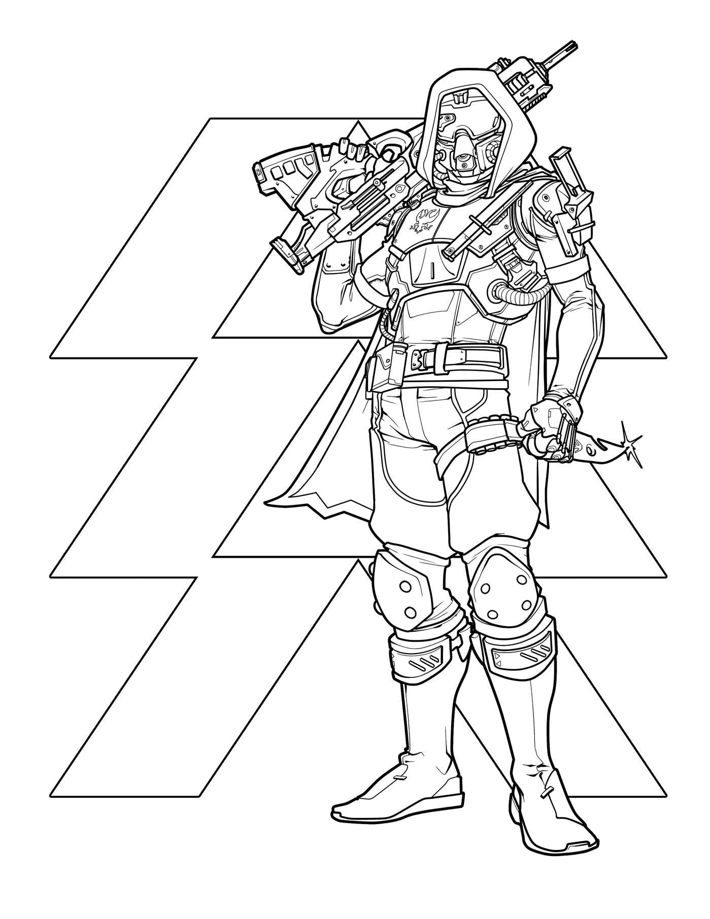 destiny characters hunter coloring pages - photo#7