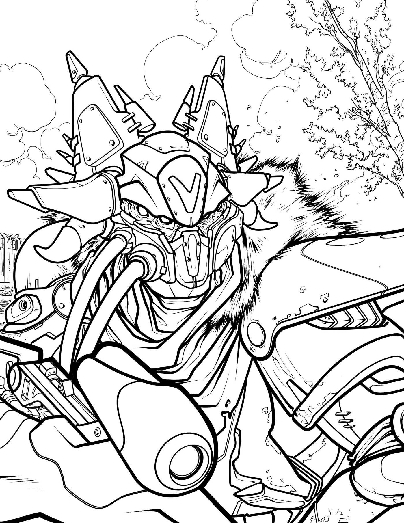 destiny characters hunter coloring pages - photo#31