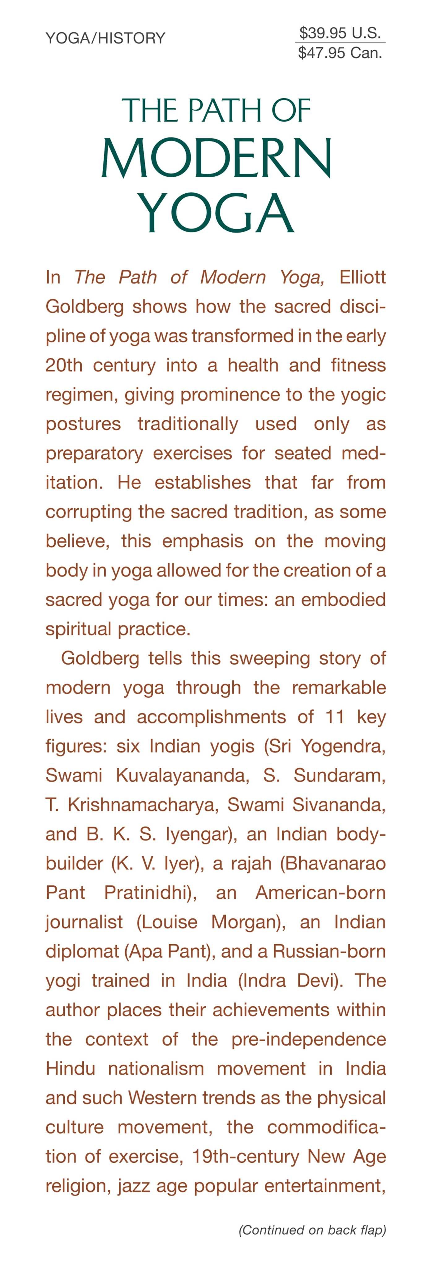 The path of modern yoga 9781620555675.in01