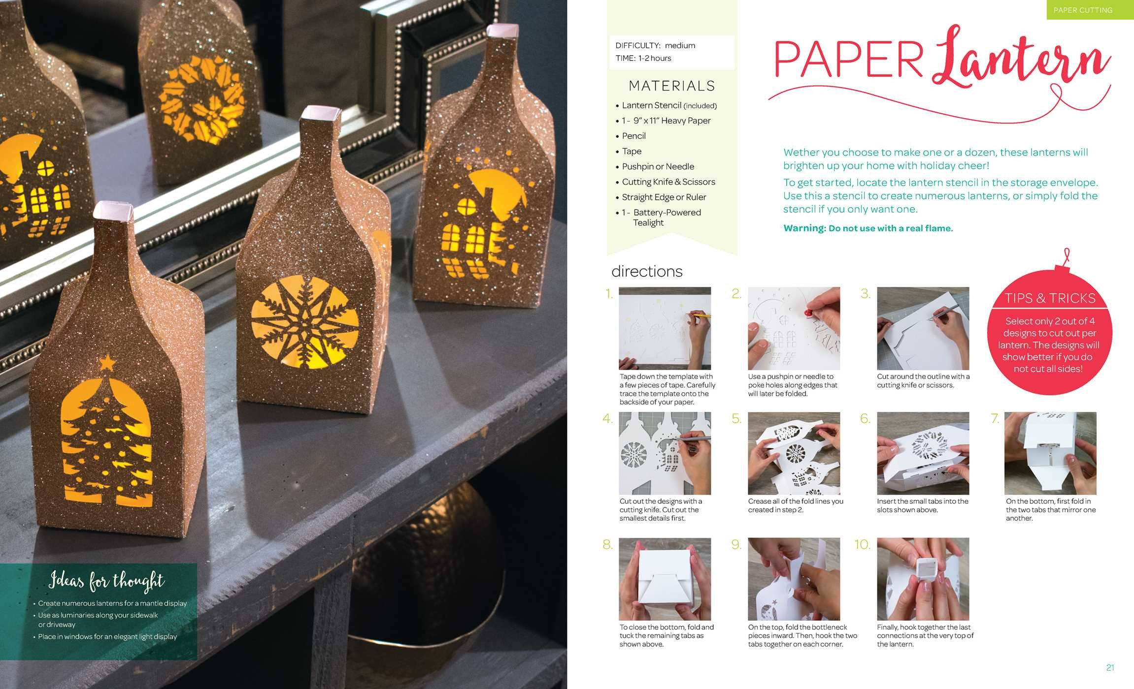 Holiday paper crafts book by larimer craft design for Where to buy contact paper for crafts