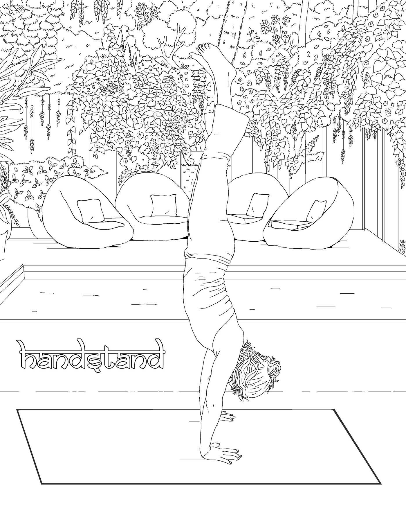 Publishers for adult coloring books -  The Yoga Poses Adult Coloring Book 9781682611302 In01