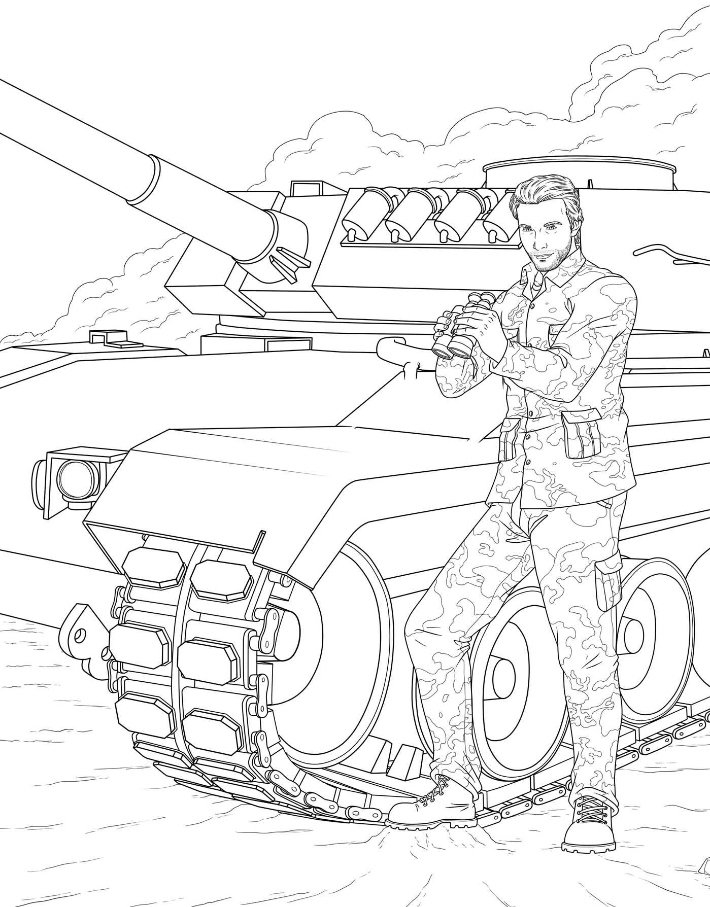 Publishers for adult coloring books -  Men In Uniform Adult Coloring Book 9781682611319 In02