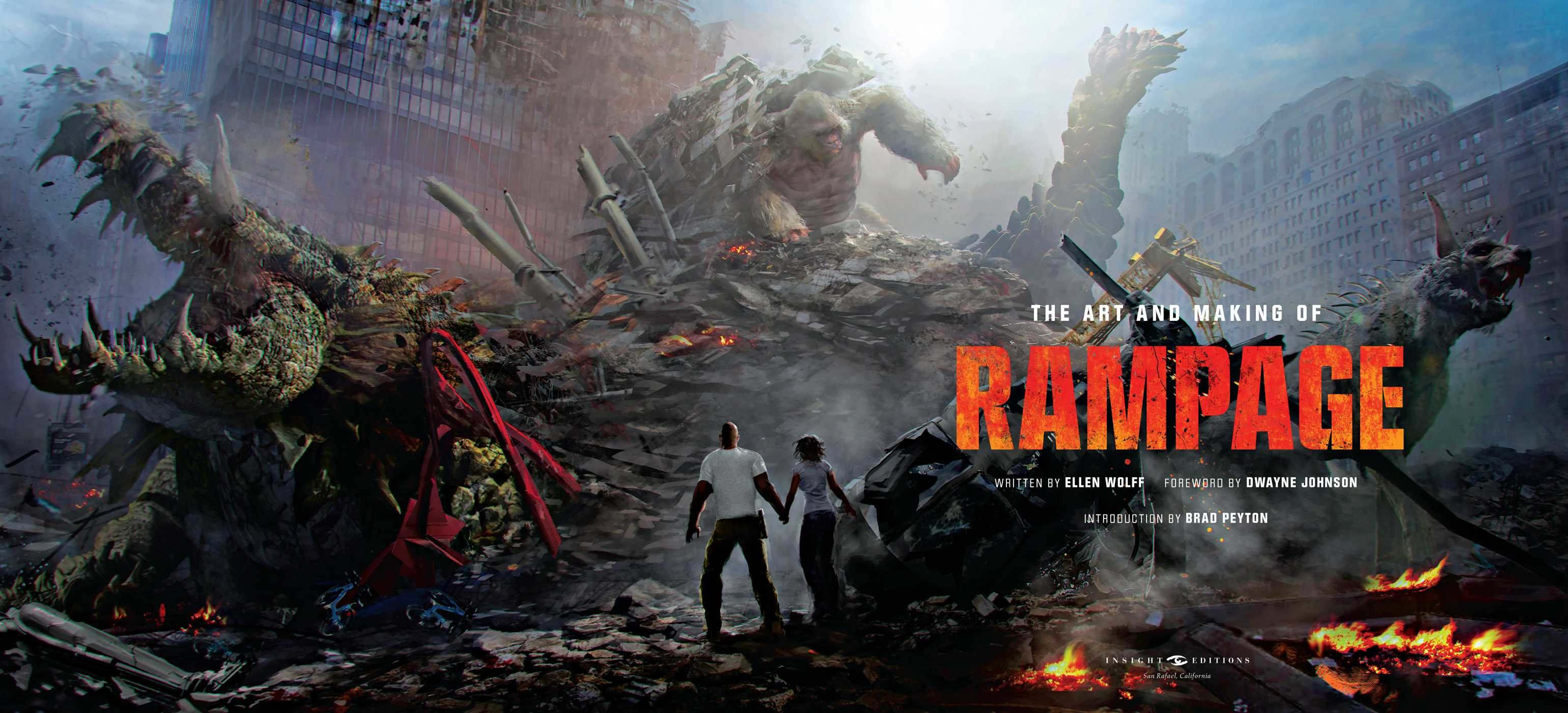 the art and making of rampage book by ellen wolff brad