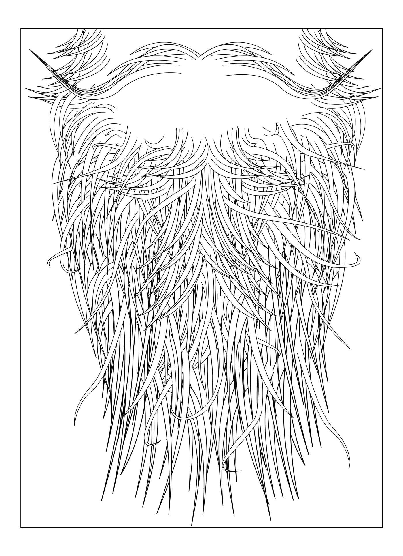 beard coloring pages - beards rock coloring book book by horacio cassinelli