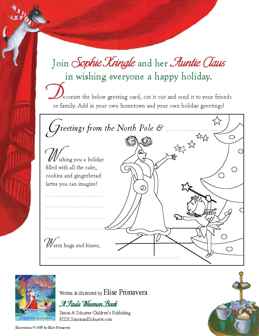 Auntie Claus Home For The Holidays Book By Elise Primavera
