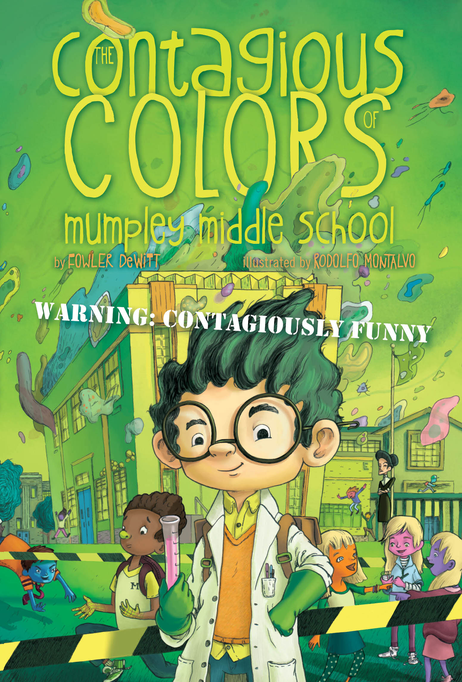 Middle School Book Cover : The contagious colors of mumpley middle school book by