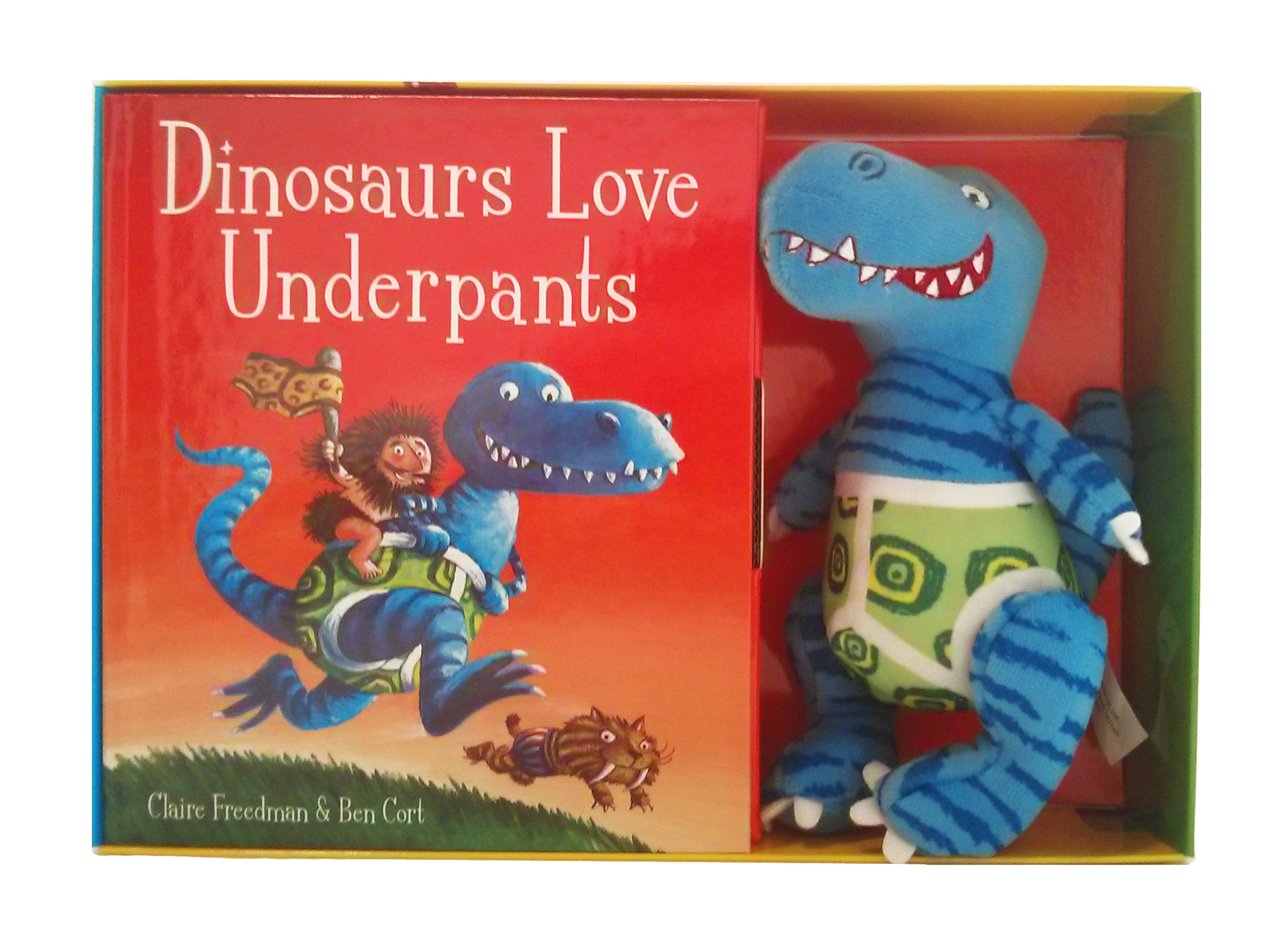 Dinosaurs Love Underpants Book And Toy By Claire Freedman Sticker Activity Books My Big Mighty Cover Image