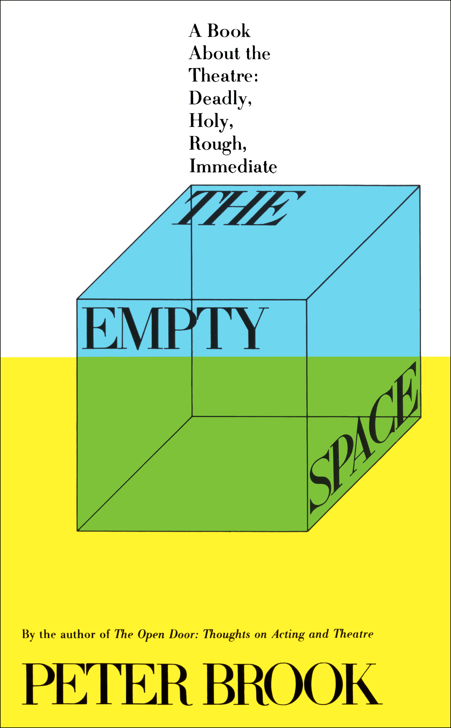The Empty Space | Book by Peter Brook | Official Publisher Page ...