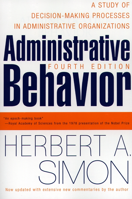 Administrative behavior 4th edition book by herbert a simon administrative behavior 4th edition book by herbert a simon official publisher page simon schuster fandeluxe Images