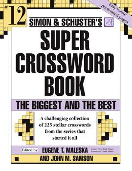 Simon and Schuster Super Crossword Puzzle Book #12