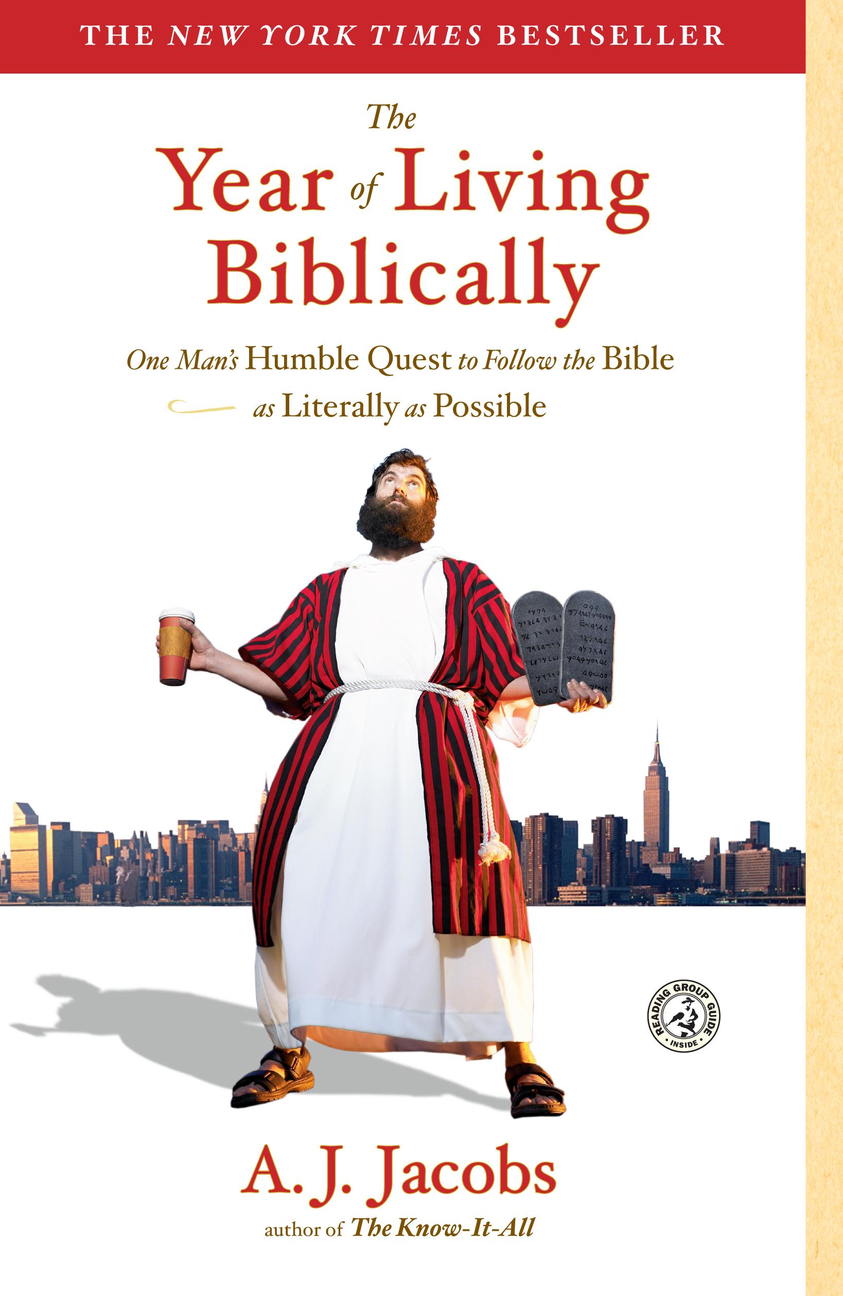 Image result for aj jacobs living biblically