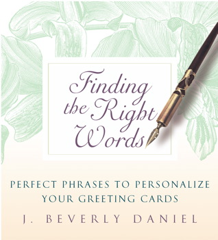Finding the right words book by j beverly daniel official finding the right words m4hsunfo