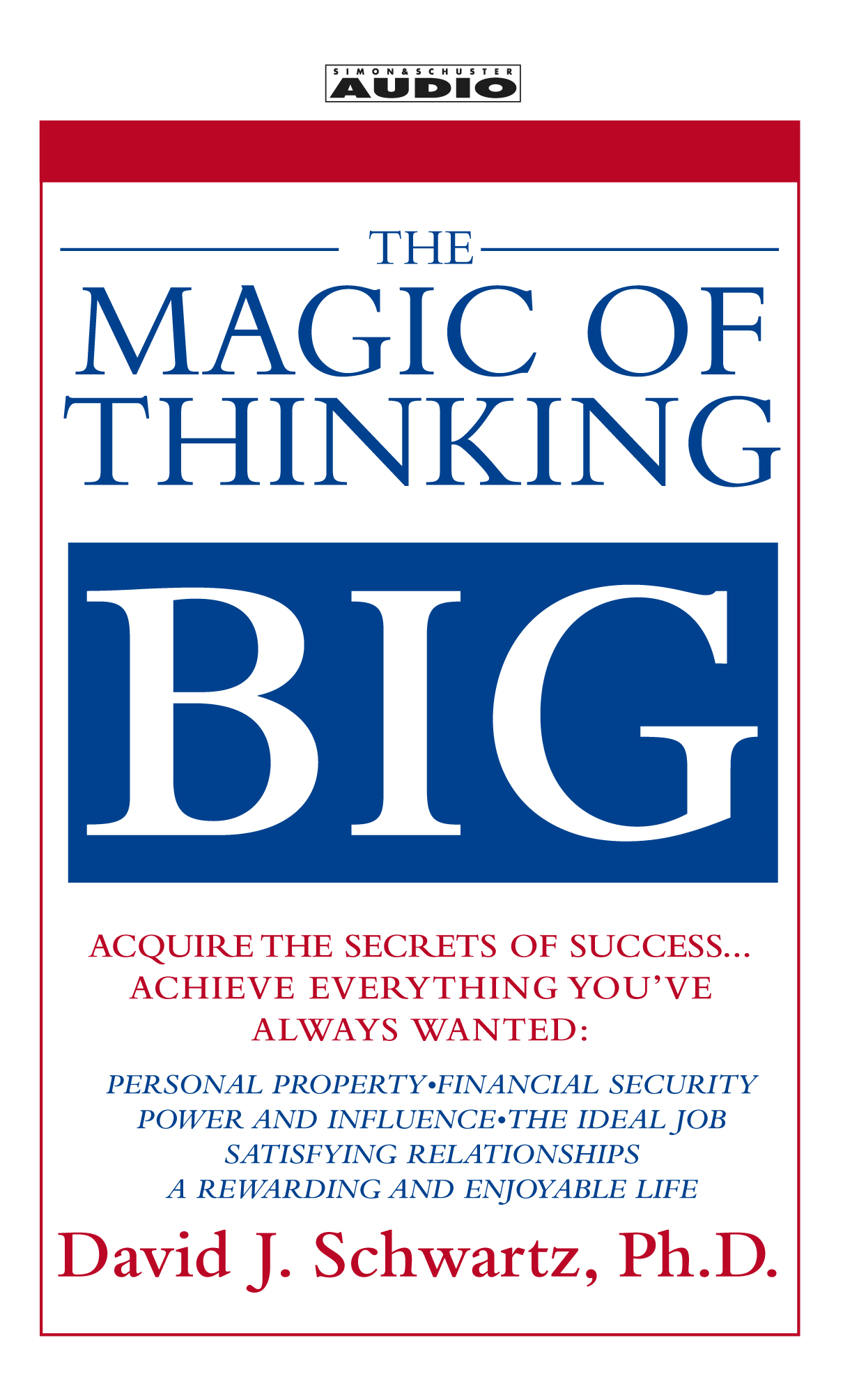 The Magic Of Thinking Big Audiobook By David Schwartz border=