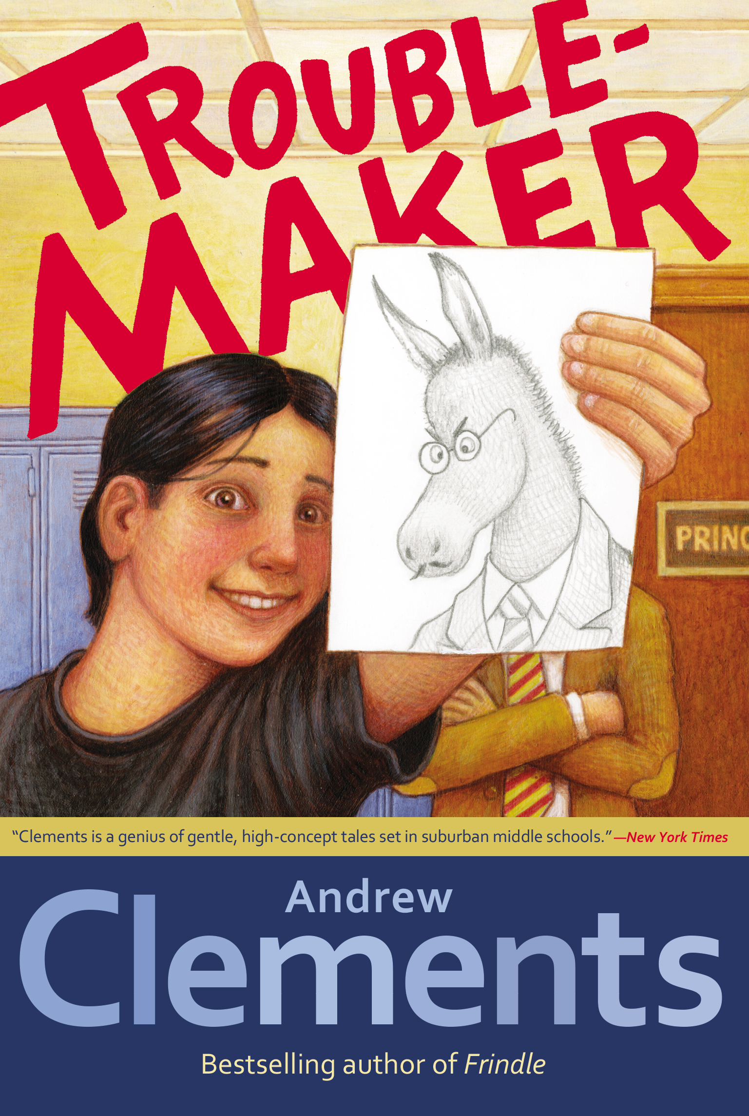 Troublemaker book by andrew clements mark elliott official cvr9781416949329 9781416949329 hr publicscrutiny Gallery