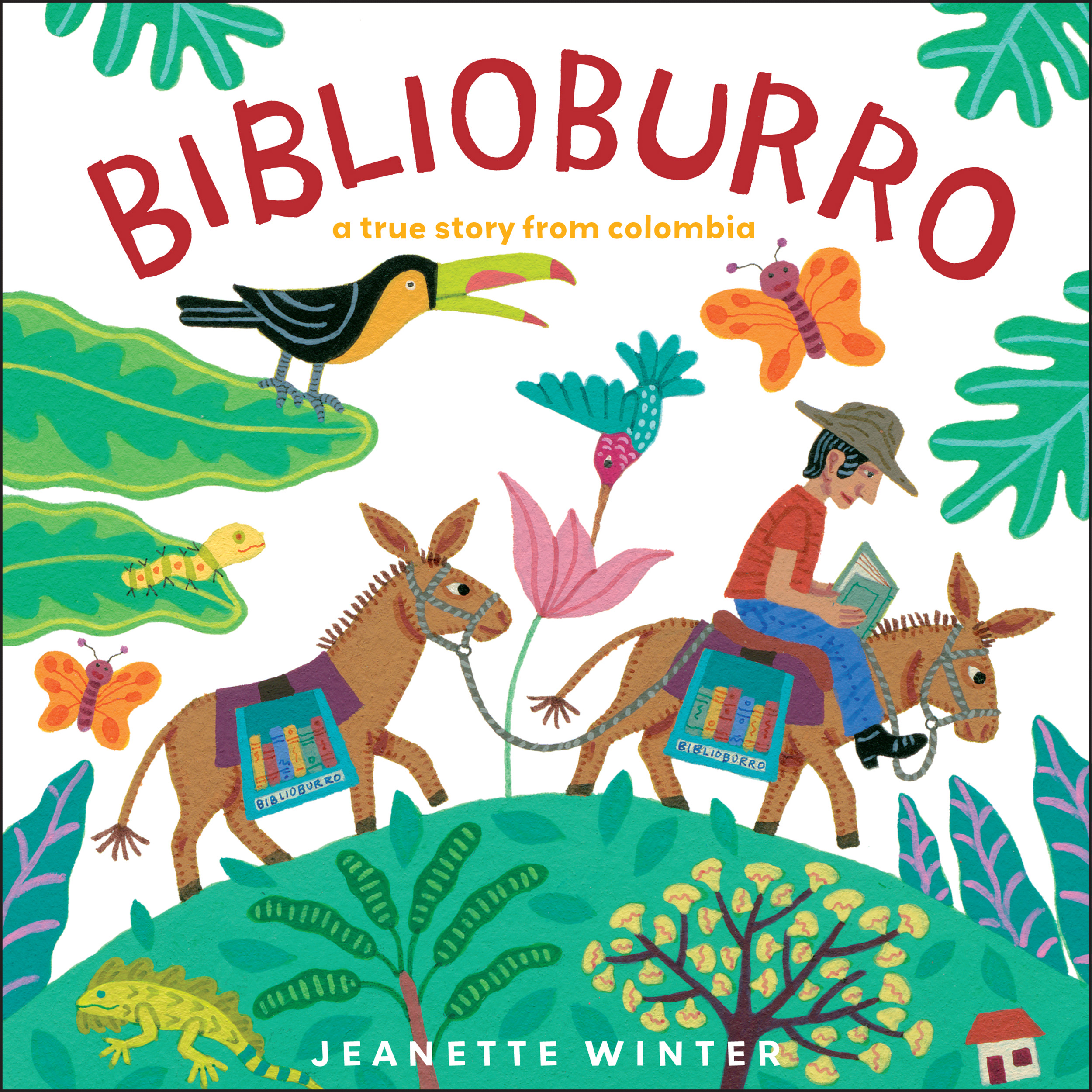 Book Cover Design Child : Biblioburro book by jeanette winter official publisher