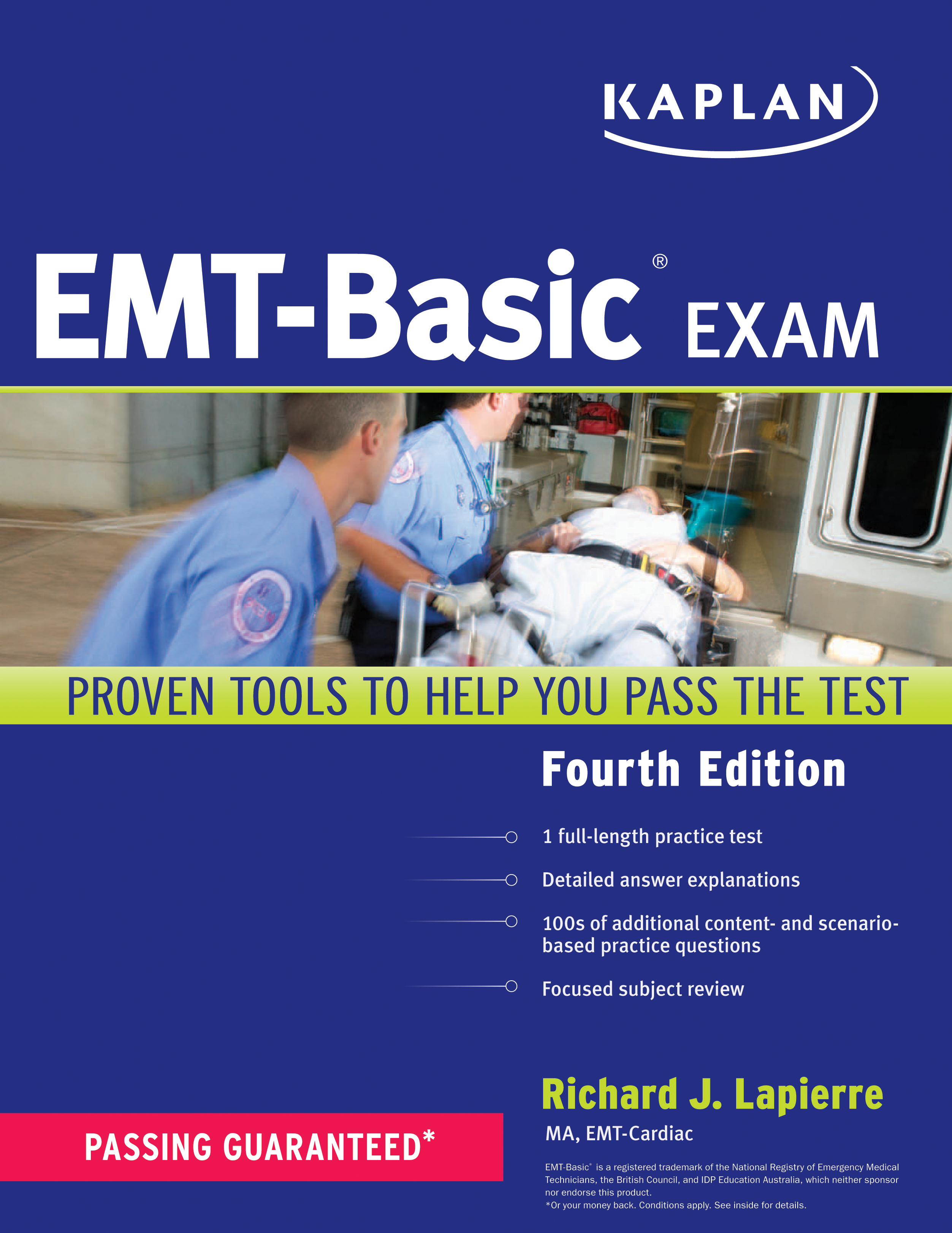 Kaplan Emt Basic Exam Book By Richard Lapierre Official