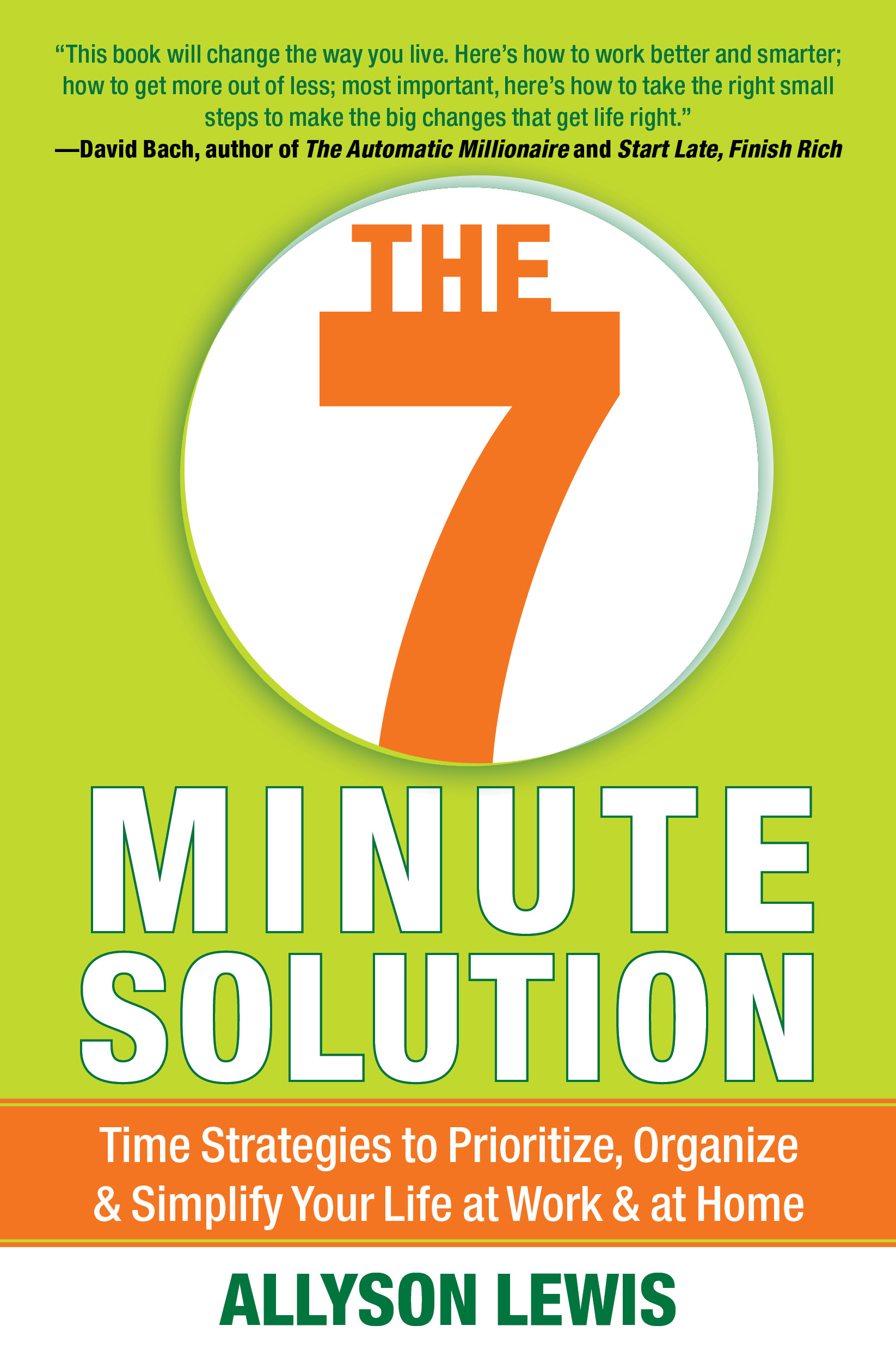 The 7 minute solution book by allyson lewis official publisher cvr9781451628234 9781451628234 hr fandeluxe Gallery